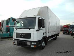 MAN TGL 12.240 2008 Stake body and tarpaulin Truck