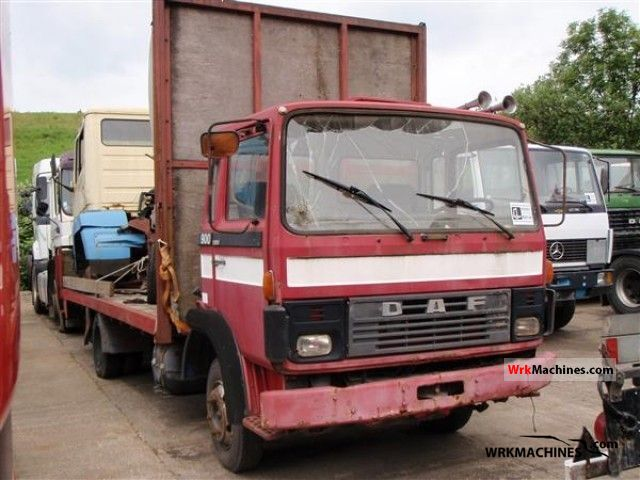 1984 DAF F 900 900 Truck over 7.5t Stake body photo