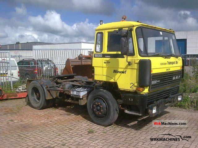 1980 DAF F 1600 1600 Semi-trailer truck Standard tractor/trailer unit photo