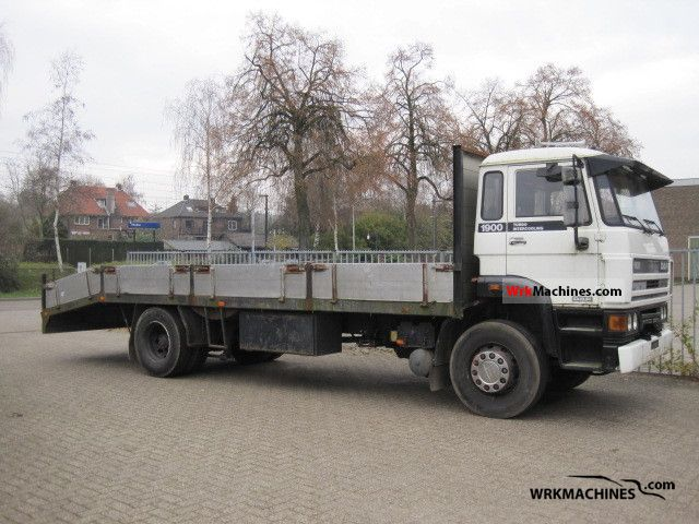 1992 DAF F 1900 1900 Truck over 7.5t Stake body photo