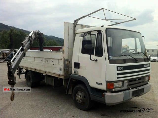 1991 DAF F 800 FA 800 CN Truck over 7.5t Stake body photo