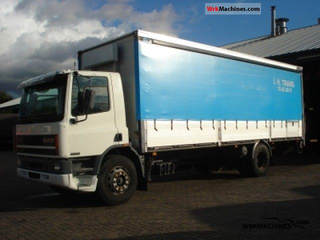 1997 DAF 65 65.210 Truck over 7.5t Stake body and tarpaulin photo
