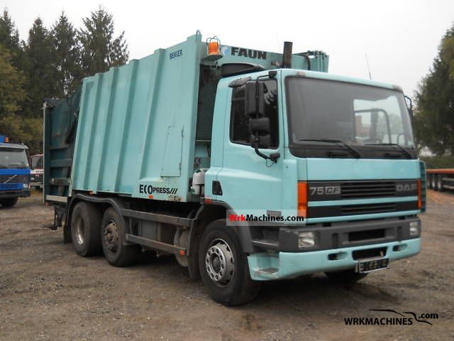 2000 DAF 75 CF 75 CF 250 Truck over 7.5t Refuse truck photo