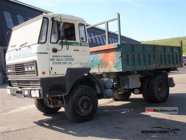 1988 DAF F 1800 1800 Truck over 7.5t Tipper photo