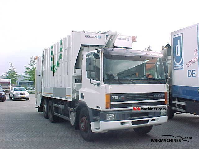 1997 DAF 75 75.270 Truck over 7.5t Refuse truck photo