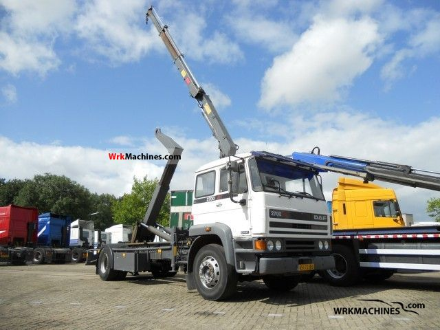 1990 DAF F 2700 2700 Truck over 7.5t Roll-off tipper photo
