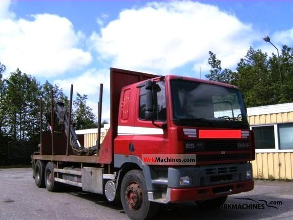 1996 DAF 85 85.400 Truck over 7.5t Timber carrier photo