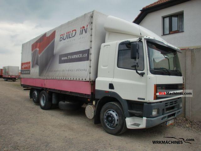 1997 DAF 85 85.360 Truck over 7.5t Stake body and tarpaulin photo