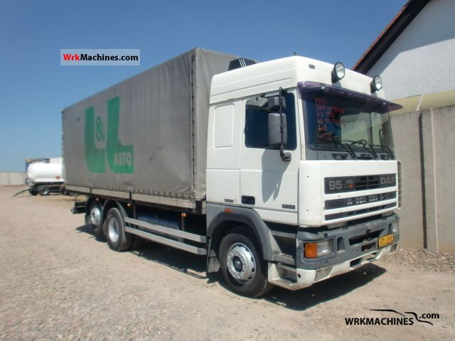 1996 DAF 95 95.400 Truck over 7.5t Stake body and tarpaulin photo