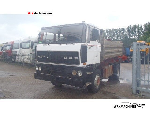 1980 DAF F 2800 2800 Truck over 7.5t Tipper photo