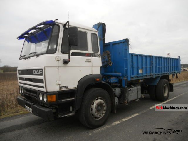 1991 DAF F 2700 2700 Truck over 7.5t Tipper photo