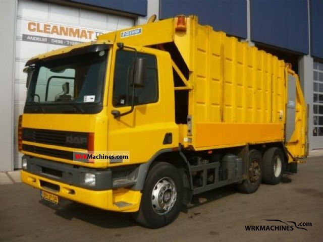 1999 DAF 75 CF FAG 75 CF 250 Truck over 7.5t Refuse truck photo