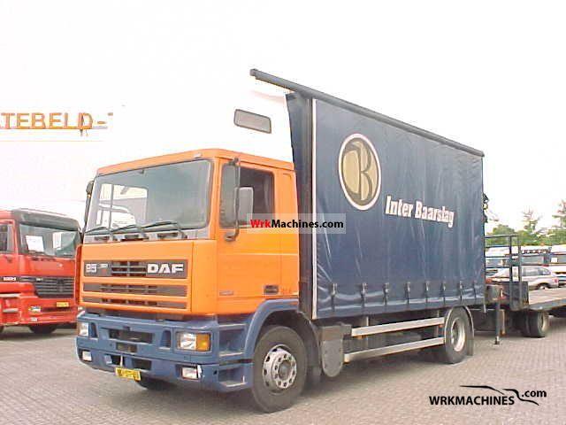 1996 DAF 95 FA 95.360 Truck over 7.5t Stake body and tarpaulin photo
