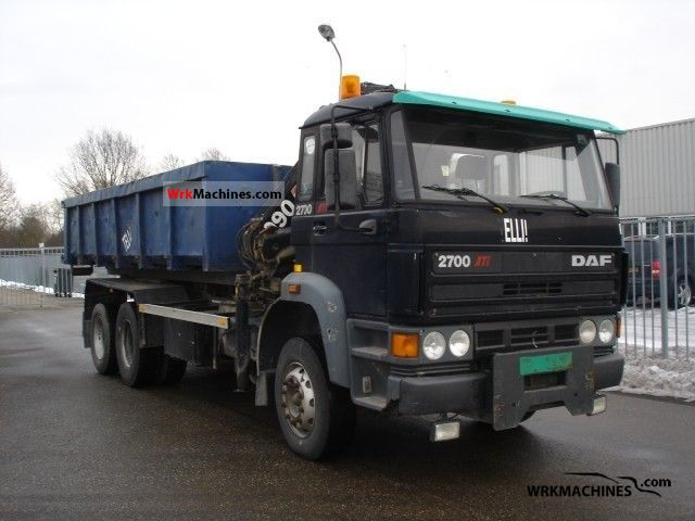 1992 DAF F 2700 2700 Truck over 7.5t Roll-off tipper photo