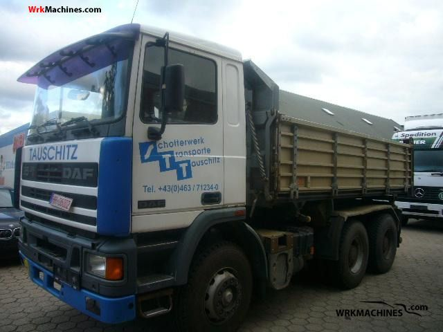 1990 DAF 95 95.350 Truck over 7.5t Tipper photo
