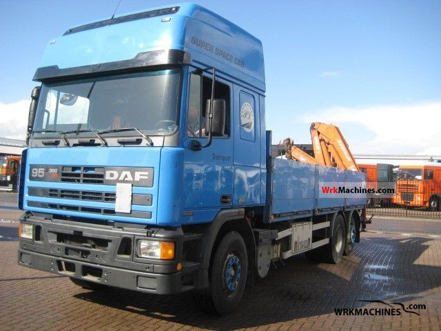 1996 DAF 95 95.360 Truck over 7.5t Stake body photo