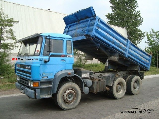1992 DAF F 2700 2700 Truck over 7.5t Three-sided Tipper photo