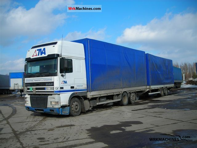 2001 DAF 95 XF 95 XF 480 Truck over 7.5t Stake body and tarpaulin photo