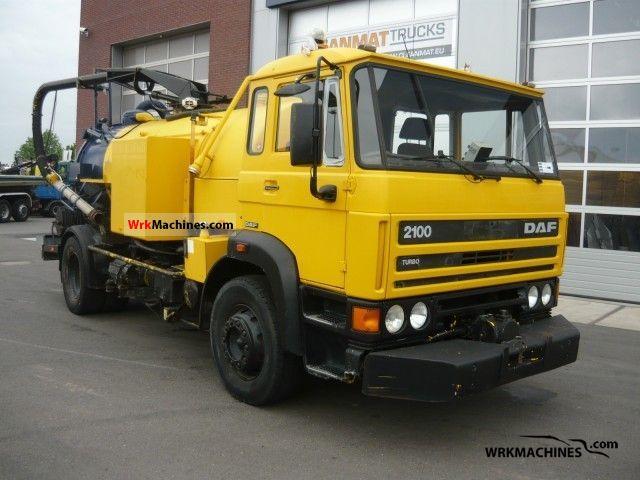 1989 DAF F 2100 2100 Truck over 7.5t Vacuum and pressure vehicle photo