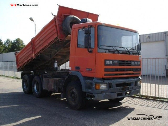 1992 DAF 95 95.400 Truck over 7.5t Tipper photo