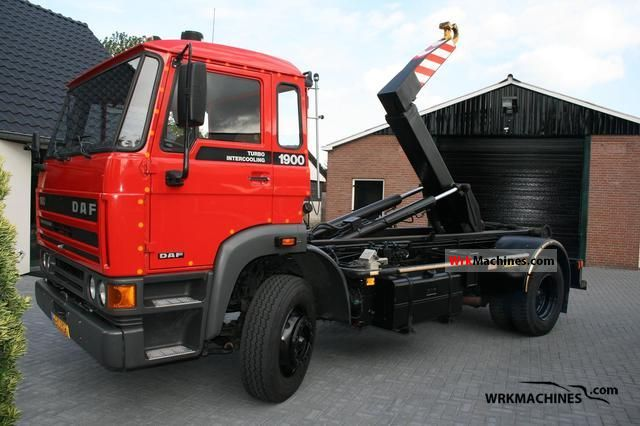 1988 DAF F 1900 1900 Truck over 7.5t Roll-off tipper photo