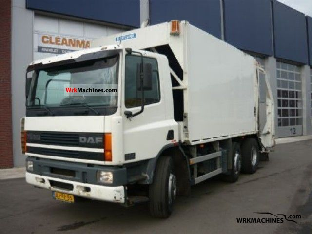 2000 DAF 75 CF FAG 75 CF 290 Truck over 7.5t Refuse truck photo