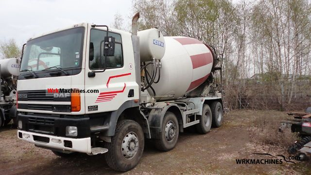 2001 DAF CF 85 85.430 Truck over 7.5t Cement mixer photo