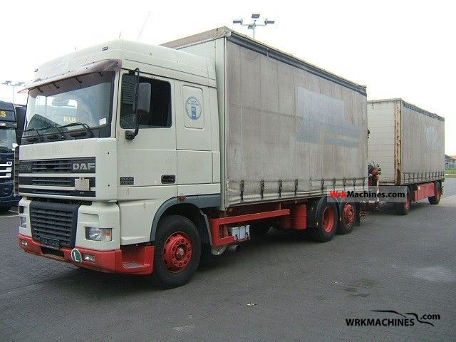 2000 DAF 95 XF 95 XF 380 Truck over 7.5t Stake body and tarpaulin photo