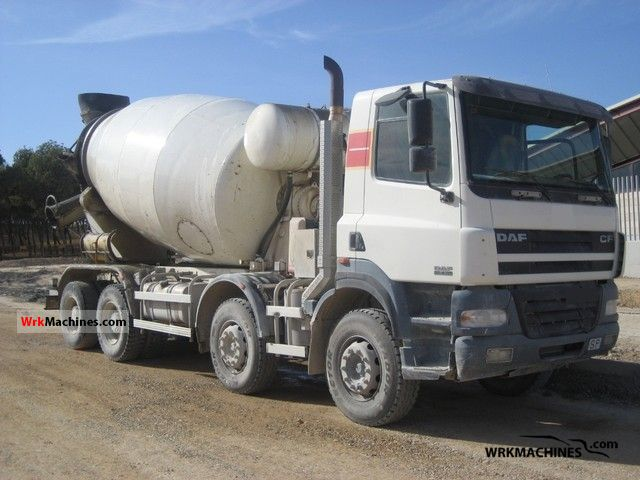 2005 DAF CF 85 85.430 Truck over 7.5t Cement mixer photo