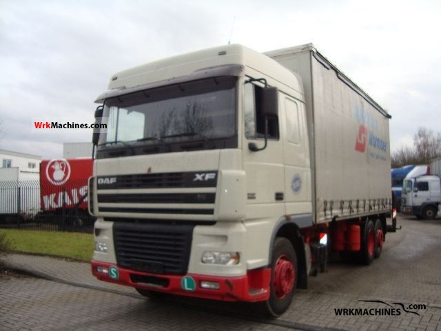 2003 DAF XF 95 95.380 Truck over 7.5t Stake body and tarpaulin photo
