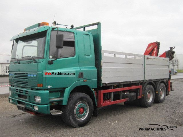2001 DAF CF 85 FAS Truck over 7.5t Stake body photo