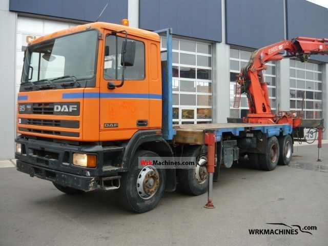 1992 DAF 95 FAD 95.400 Truck over 7.5t Truck-mounted crane photo