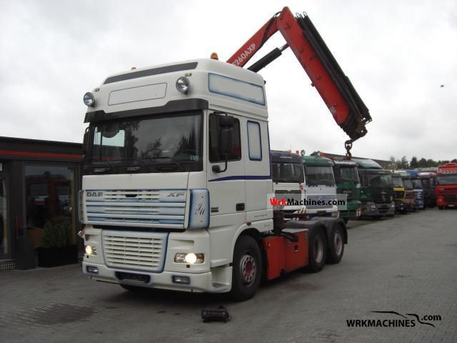 2005 DAF CF 85 FAS Truck over 7.5t Truck-mounted crane photo