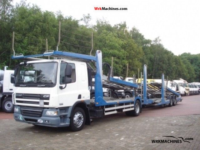 2007 DAF CF 75 75.360 Truck over 7.5t Car carrier photo