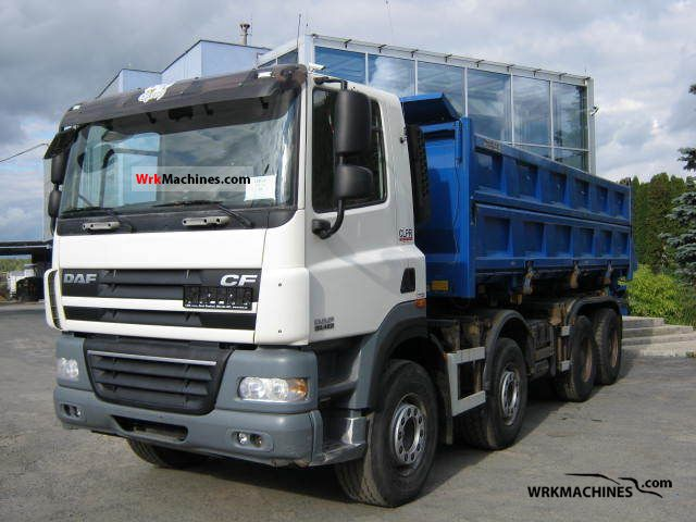 2008 DAF CF 85 85.460 Truck over 7.5t Tipper photo