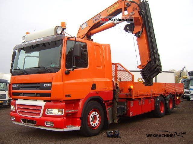 2003 DAF CF 85 85.380 Truck over 7.5t Truck-mounted crane photo