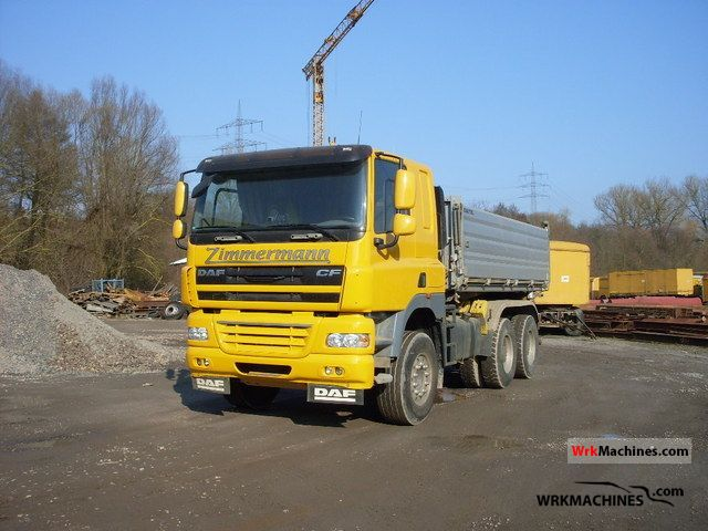 2008 DAF CF 85 85.510 Truck over 7.5t Tipper photo