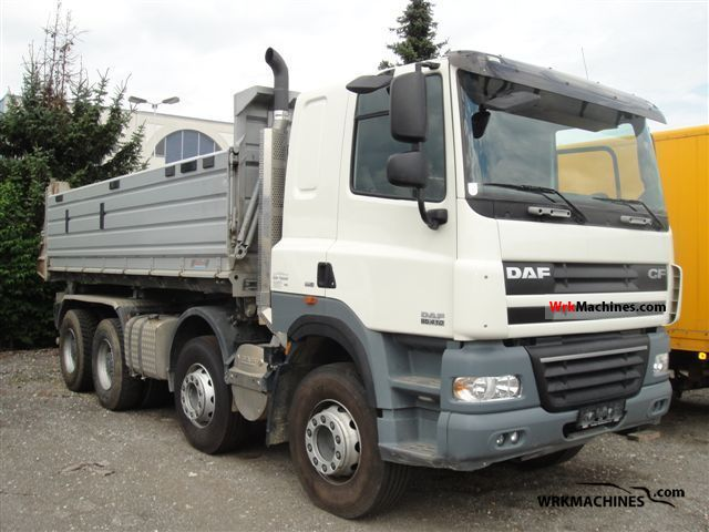 2007 DAF CF 85 FAD Truck over 7.5t Tipper photo