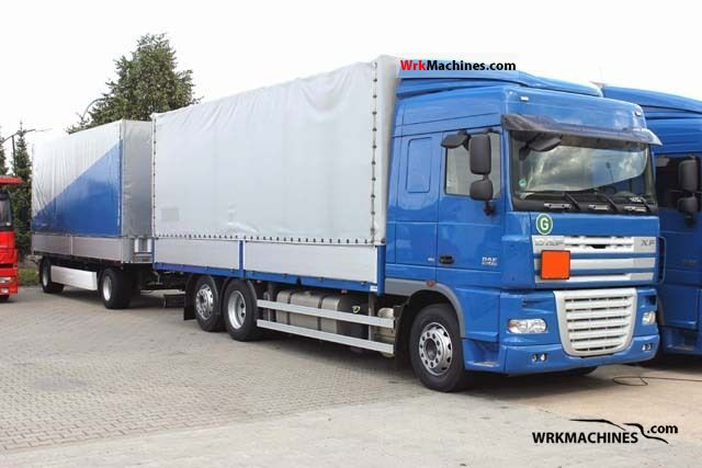 2008 DAF XF 105 105.410 Truck over 7.5t Stake body photo