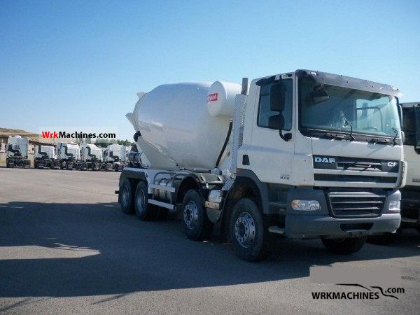 2010 DAF CF 85 85.410 Truck over 7.5t Cement mixer photo