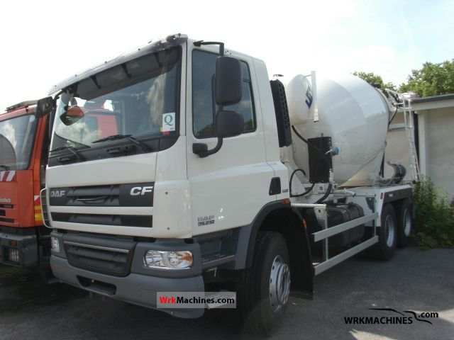 2011 DAF CF 75 75.310 Truck over 7.5t Cement mixer photo