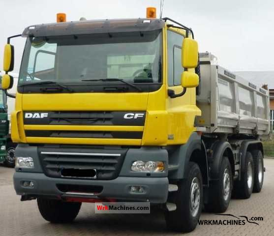 2010 DAF CF 85 85.410 Truck over 7.5t Three-sided Tipper photo