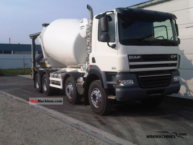 2011 DAF CF 85 FAD Truck over 7.5t Cement mixer photo