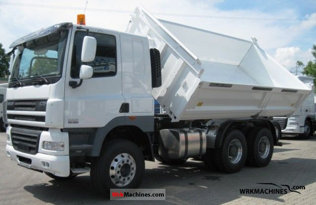2011 DAF CF 85 85.460 Truck over 7.5t Three-sided Tipper photo