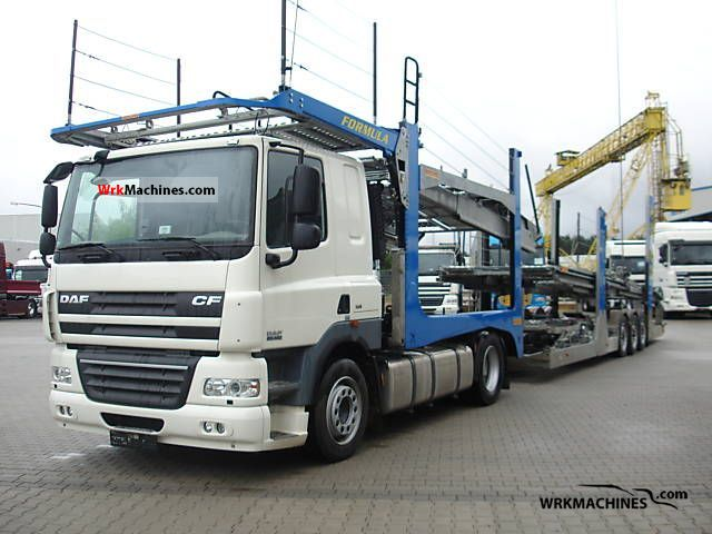 2008 DAF CF 85 85.460 Truck over 7.5t Car carrier photo
