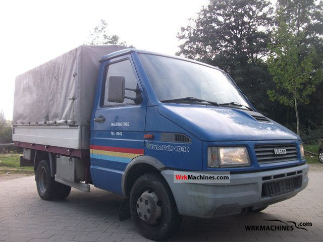 1995 IVECO Daily I 49-10 Van or truck up to 7.5t Stake body and tarpaulin photo
