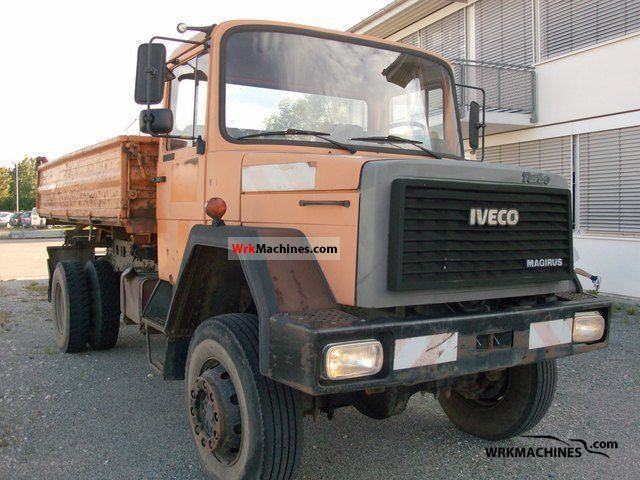 1989 IVECO P/PA-Haubenfahrzeuge 150-16 Truck over 7.5t Three-sided Tipper photo