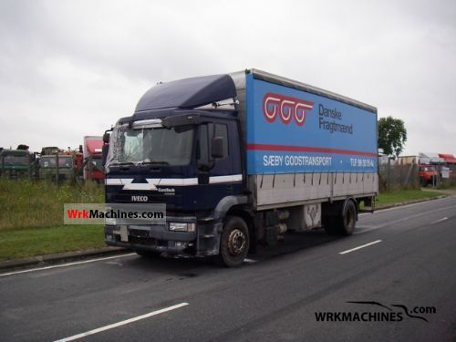 2001 IVECO EuroTrakker 190 Truck over 7.5t Stake body and tarpaulin photo
