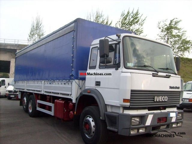 1992 IVECO TurboTech 190-26 Truck over 7.5t Stake body and tarpaulin photo
