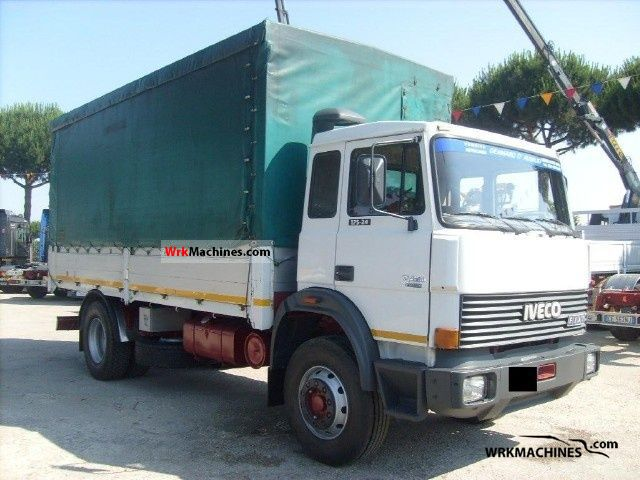 1988 IVECO M 175-24 Truck over 7.5t Stake body and tarpaulin photo
